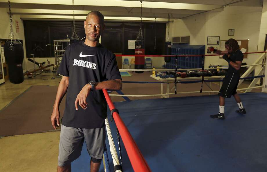 Eastside Boys & Girls Club head boxing coach Jeff Mays poses in the gym on Feb. 13, 2014. Photo: Edward A. Ornelas /San Antonio Express-News / © 2014 San Antonio Express-News