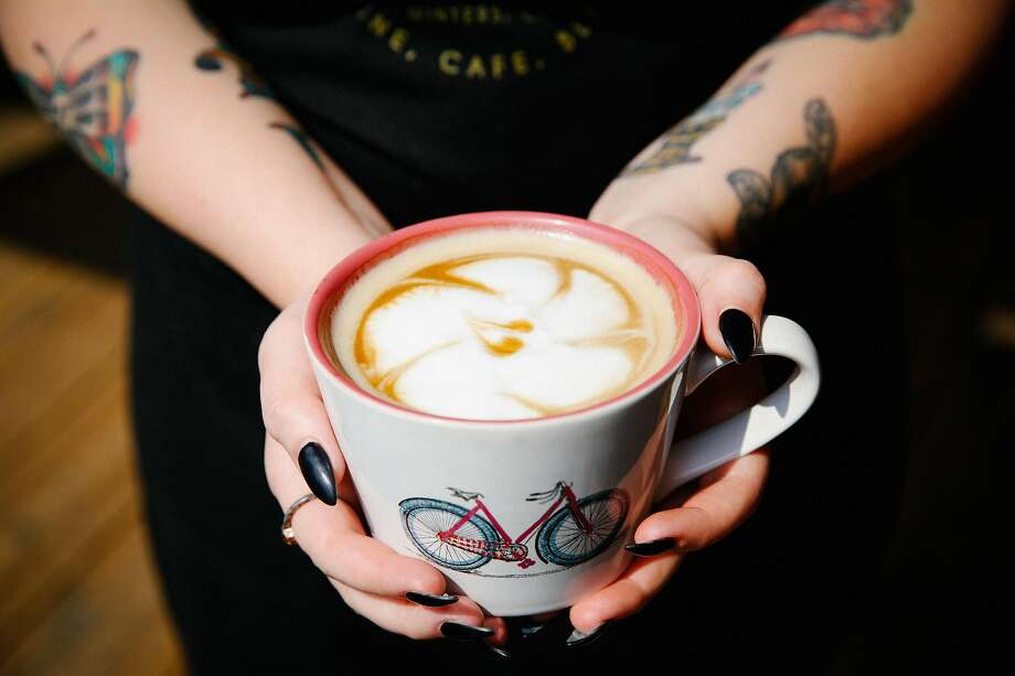 A latte at Steady Eddy's Coffee House in Winters, Davis' neighboring town 15 flat miles to the west. Photo: Sarah Rice / Special To The Chronicle 2015