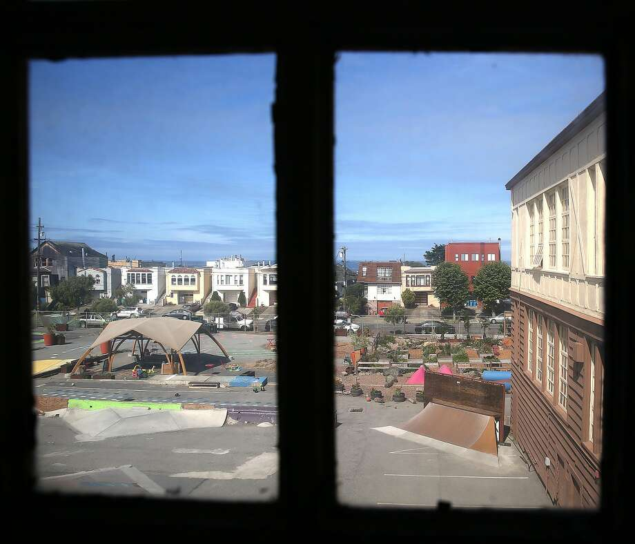 Francis Scott Key Annex, a district owned building presently used for administrative purposes as well as a community park called Playland at 43rd Avenue, will become a site for teacher housing on Thursday, May 11, 2017, in San Francisco, Calif. Photo: Liz Hafalia, The Chronicle