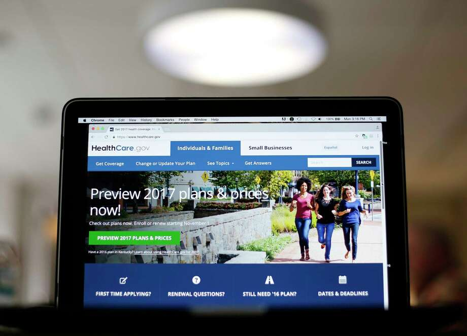 FILE - This Oct. 24, 2016, file photo, shows the HealthCare.gov 2017 website home page on display, in Washington. Early moves by insurers in some states suggest another round of higher prices and limited choices will greet health insurance shoppers in markets around the country when they start searching for next year's coverage on the Affordable Care Act's public insurance exchanges. (AP Photo/Pablo Martinez Monsivais, File) Photo: Pablo Martinez Monsivais, STF / Copyright 2016 The Associated Press. All rights reserved.