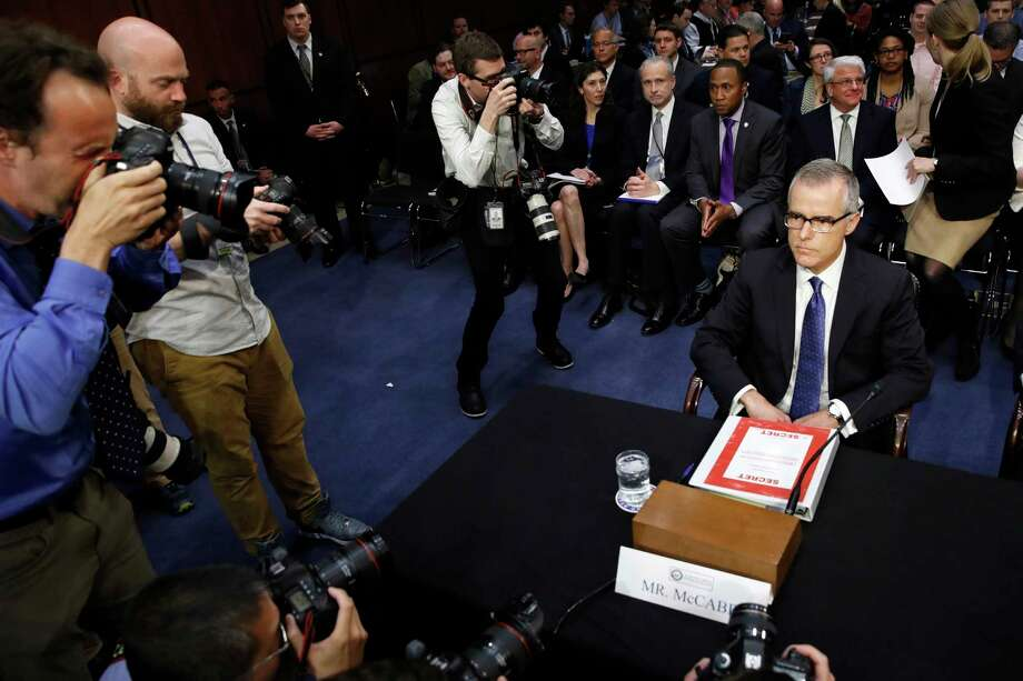 """You cannot stop the men and women of the FBI from doing the right thing,"" acting FBI Director Andrew McCabe told senators when asked about attempts to hobble the Russian investigation. Photo: Jacquelyn Martin, STF / Copyright 2017 The Associated Press. All rights reserved."