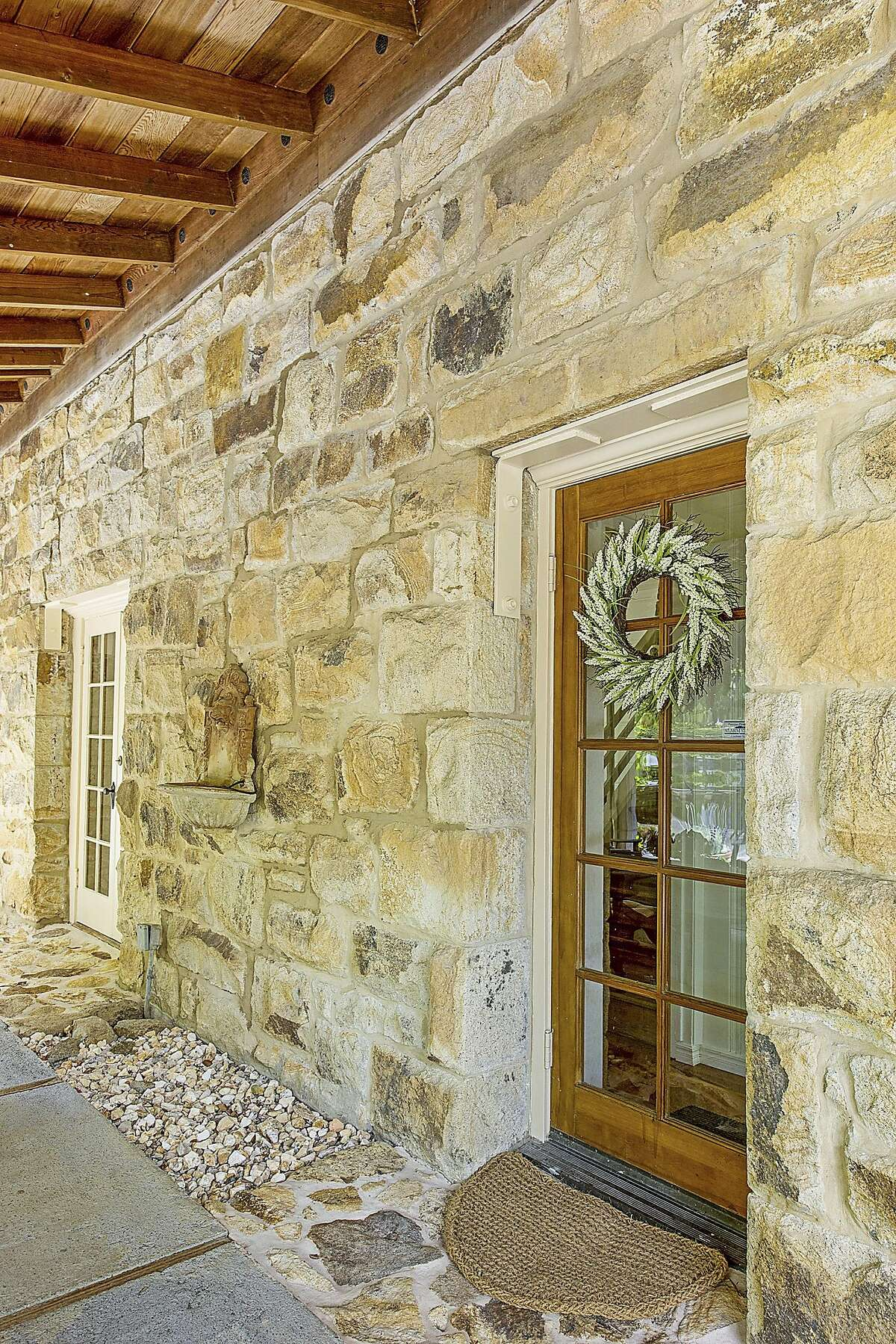 The home's stone walls are more than a century old.