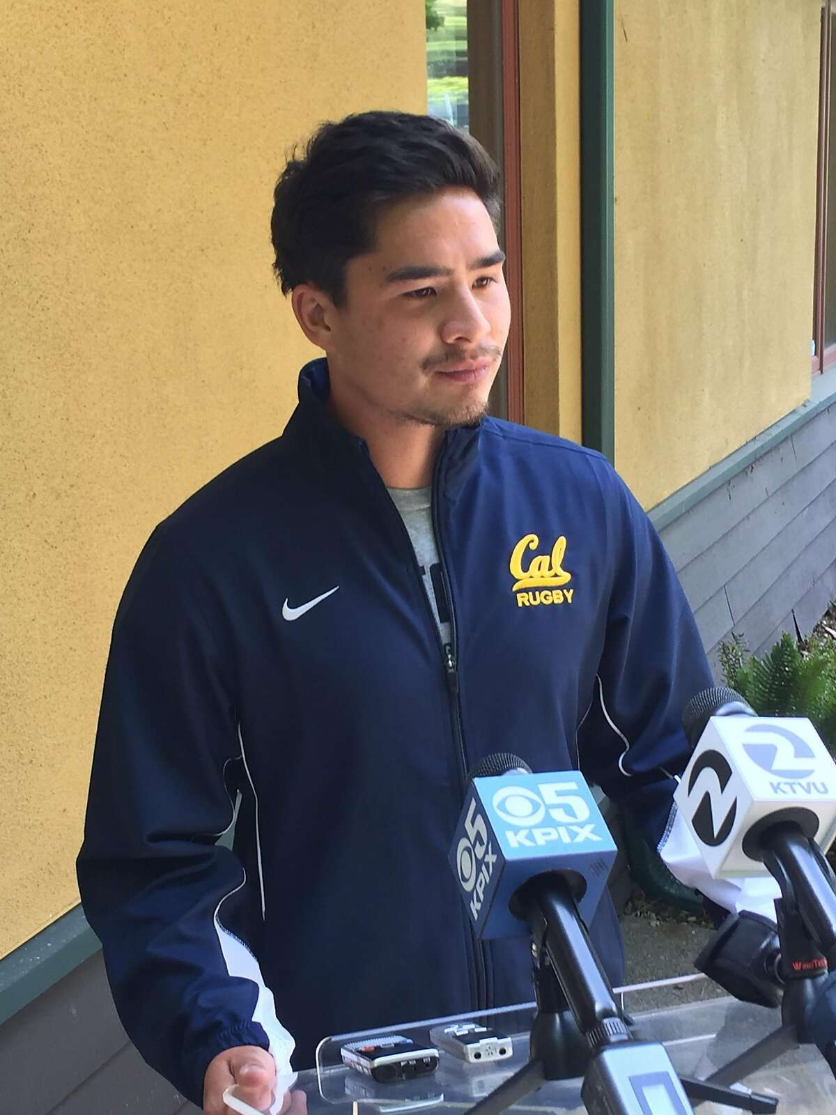 Cal rugby captain Russell Webb discusses the injury that left teammate Robert Paylor paralyzed in Saturday's national championship match in Santa Clara.