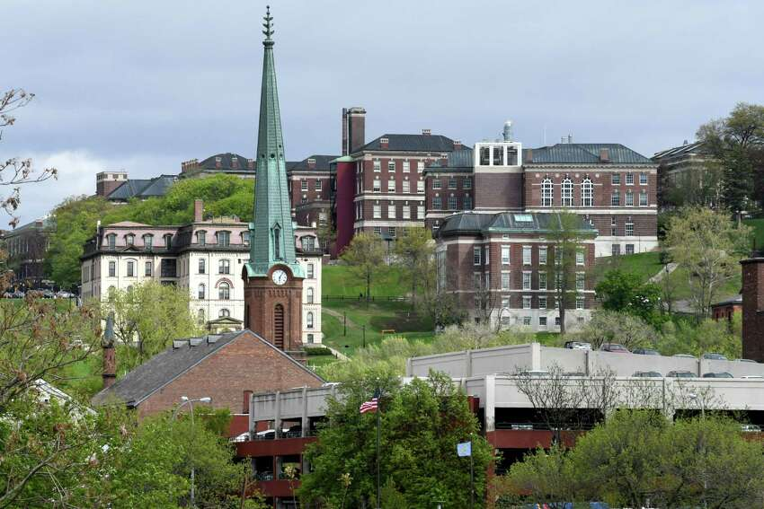 View of Troy and the Rensselaer Polytechnic Institute campus on Wednesday, May 3, 2017, viewed from Green Island, N.Y. (Will Waldron/Times Union)