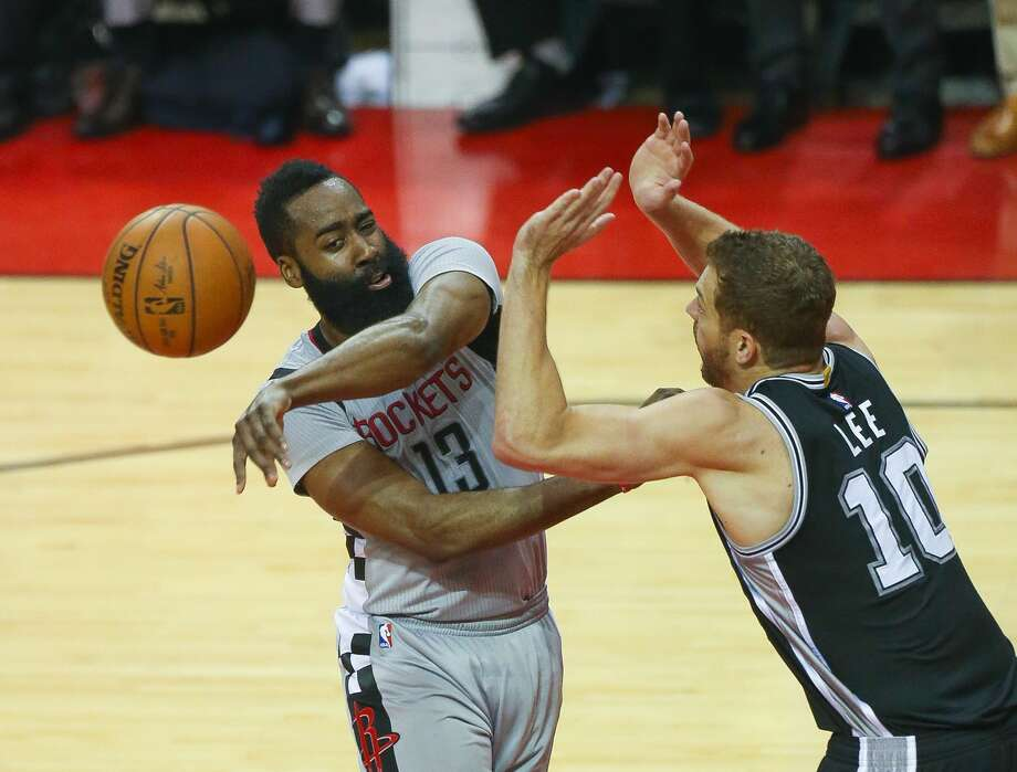 After a 39-point loss in the deciding Game 6 to the Spurs in last year's postseason, James Harden's Rockets laid another egg in Game 3 of this year's Western Conference finals at Golden State on Sunday. Photo: Mark Mulligan/Mark Mulligan / Houston Chronicle