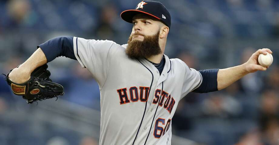 Houston Astros starting pitcher Dallas Keuchel delivers during the second inning of the team's baseball game against the New York Yankees in New York, Thursday, May 11, 2017. (AP Photo/Kathy Willens) Photo: Kathy Willens/Associated Press