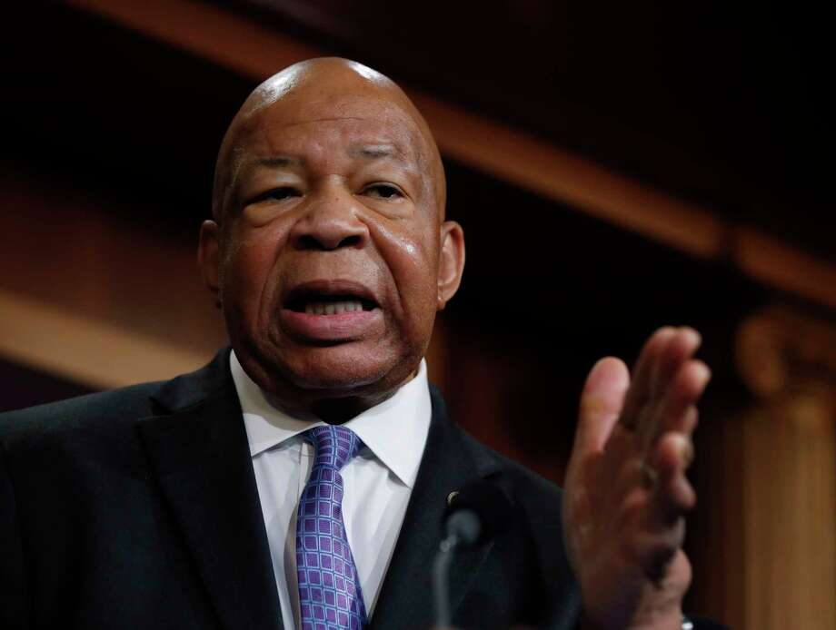 "Rep. Elijah Cummings, D-Md., ranking member on the House Oversight Committee, speaks to reporters during a news conference on Capitol Hill in Washington, Thursday, April 27, 2017. Documents released by lawmakers show President Donald Trump's former national security adviser, Michael Flynn, was warned when he retired from the military in 2014 not to take foreign money without ""advance approval"" by Pentagon authorities. (AP Photo/Manuel Balce Ceneta) Photo: Manuel Balce Ceneta, STF / AP"
