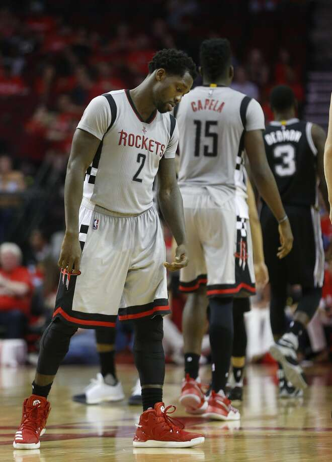 Houston Rockets guard Patrick Beverley (2) reacts during the second half of Game 6 of the second round of the Western Conference NBA playoffs at the Toyota Center, Thursday, May 11, 2017, in Houston. ( Karen Warren / Houston Chronicle ) Photo: Karen Warren/Houston Chronicle
