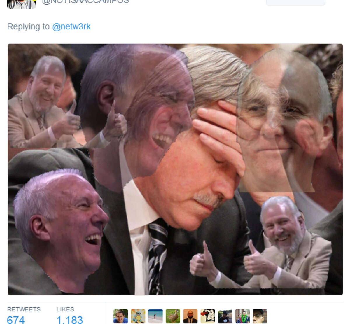 PHOTOS: Memes about the Rockets' blowout loss to the Spurs on Thursday night. Source: Twitter