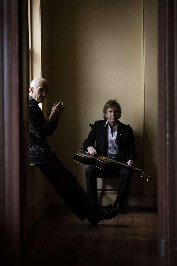 Australian musician Paul Kelly and Charlie Owen