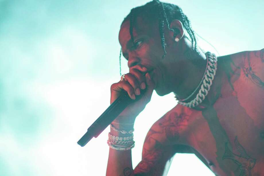 Travis Scott performs at Revention Music Center during his Bird's Eye View Tour in Downtown Houston TX on Thursday May 11, 2017 Photo: Jamaal Ellis, For The Chronicle / ©2017 Houston Chronicle