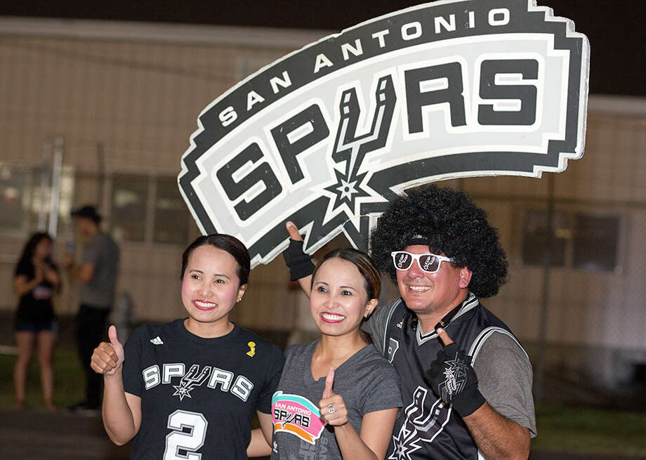 It was a celebration of puro San Antonio proportions at the airport Thursday, May 11, 2017, as Spurs fans greeted their beloved team back to the Alamo City after a blowout win over the Houston Rockets. The Spurs will enter the Western Conference finals and face the Golden State Warriors. Photo: B. Kay Richter, For MySA.com