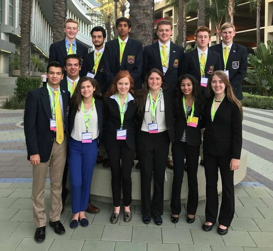 Thirteen students from H. H. Dow High School join thousands of marketing students from around the world to represent Michigan at DECA's annual International Career Development Conference in Anaheim, California.
