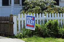Former Selectman Kevin Kiley, the Democratic candidate in a June 6 special election, is actively campaigning even thought the election's status is still up in the air.