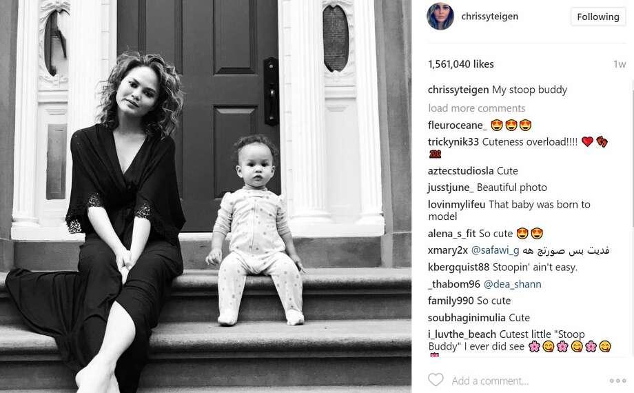 "Chrissy Teigan""My stoop buddy""Photo: Instagram Photo: Instagram"