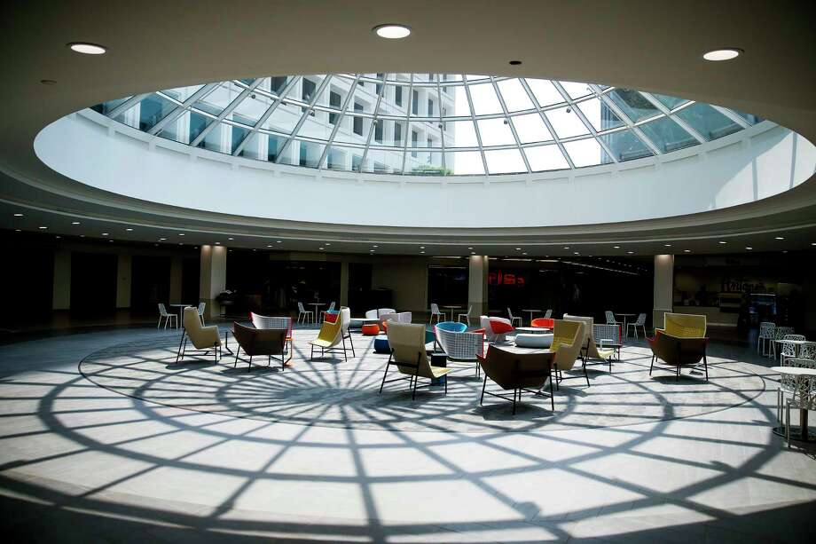 Light streams into The Hub at Greenway at Greenway Plaza, a 1960s-era complex that is being updated. Photo: Michael Ciaglo, Staff / Michael Ciaglo