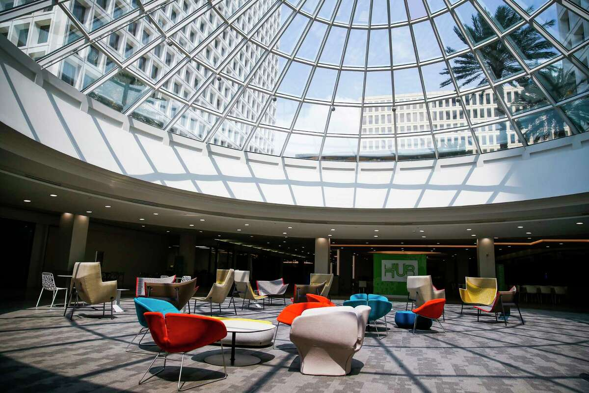 Light streams into The Hub at Greenway at the 52 acre, ten building, Greenway Plaza Campus Friday, April 28, 2017 in Houston. ( Michael Ciaglo / Houston Chronicle)
