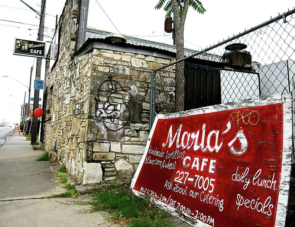 Maria's Cafe: 1105 Nogalitos St.Date: 12/03/2018 Score: 62 Highlights:Dead roaches were found on floor in back room (pantry). Observed multiple containers of ready to eat food as well as raw food, in refrigerator without a proper cover. Employee washed hands with cold water because hot water line is shut off (leak). Food handler certificates are all expired; some for over a year. Observed multiple cooked food items set to cool at room temperature. Observed multiple ready to eat food product in refrigerator such as menudo, beans, etc., without a use by date marked. At time of inspection, hand sink in kitchen did not have paper towels. Observed raw wooden board used to store silver ware in kitchen.