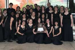 MHS choir: Julietta Brito, front row from left, Natalie Jarratt, Caylee Helton, Audrey Adams and Casey Contreras; Siera Wadsworth, second row from left, Logan Holmes, Markell Matthews, Alliana Perez, Gabbie Valles, Camryn Jordan and Ashley Ledesma; Kent Mohr, third row from left, Kayla Gonzales, Emily Arciniegas, Katie Dominguez, Brandon Roberts, Elizabeth Mills, Hannah Cauble, Laura Kator, Lauren Ready, Grayson Jones; and Marshall Mayfield, back row from left,  Jonah Thacher, Zane Richardson, Collin McCullough and Abby Brown