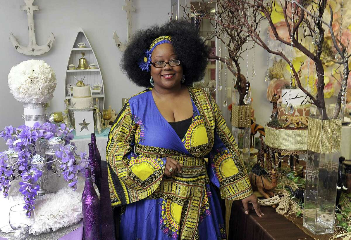 A. Malakah Williams is the owner of Bash!, an event design and confectionery business in Danbury. Photo May 8, 2017.