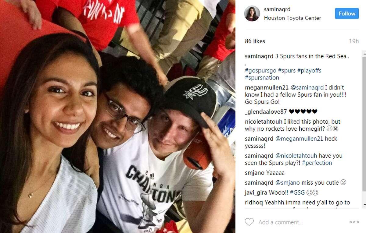 saminaqrd3: Spurs fans in the Red Sea.. . #gospursgo #spurs #playoffs #spursnation