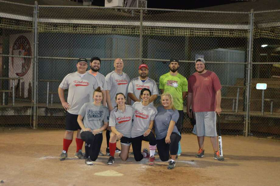Employees of Kirksey have fun after work hours on the softball field. Photo: Kirksey