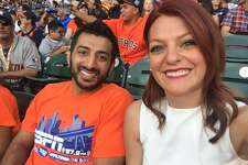Old college buddies Raheel Ramzanali of ESPN 97.5 FM and Julia Morales of Root Sports Southwest both cover the Astros.