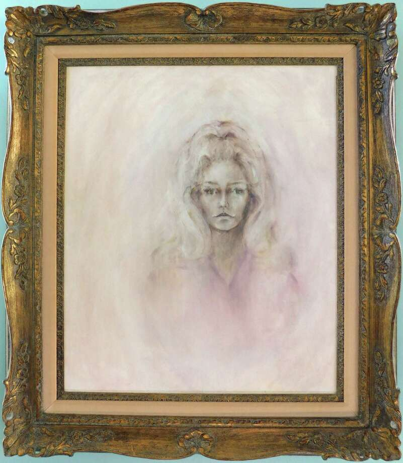 "Fawcett chose a somewhat distant expression for her oil-on-canvas ""Self Portrait,"" circa 1970. Photo: Collection Of Greg Walls"