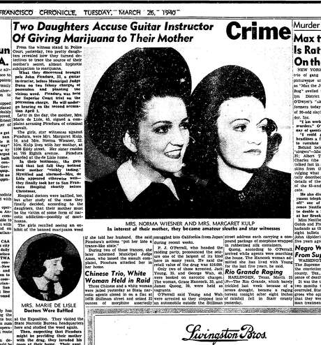 The March 26, 1940, story of a guitar teacher who would be acquitted of rape and drug charges after a three-day trial. Photo: Chronicle Archive, Chroncile Archive