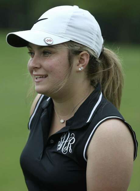 La Vernia senior golf standout Shawnee Allen, seen on May 9, 2017, won the UIL state golf tournament as a freshman and sophomore but didn't even play in the district tournament as a junior. The day before it started, she was hospitalized and diagnosed with ulcerative colitis. Allen has been coping with that since but has worked her back to the 4A state tournament, which is May 15-16 in Horseshoe Bay Photo: William Luther /San Antonio Express-News / © 2017 San Antonio Express-News