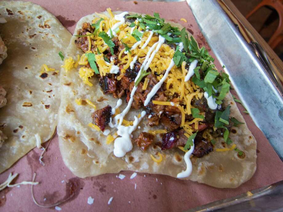 Chopped brisket taco at The Pit Room Photo: J.C. Reid
