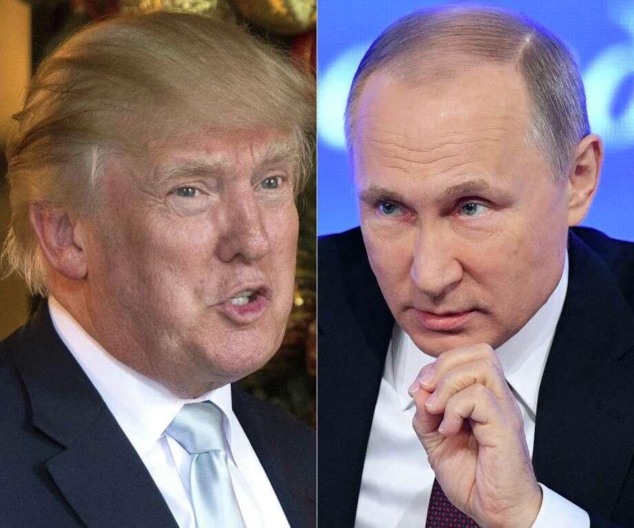 Donald Trump and Vladimir Putin. Photo: DON EMMERT /AFP /Getty Images / AFP or licensors
