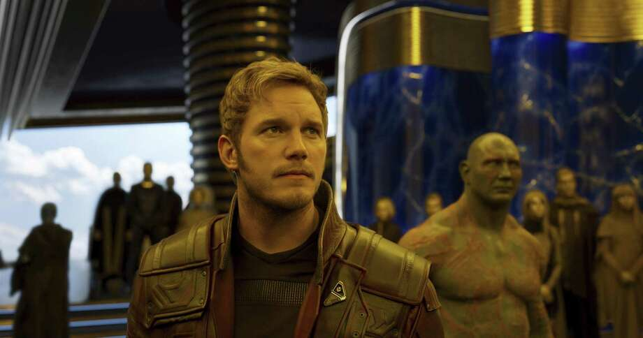 "Chris Pratt, left, and Dave Bautista in a scene from, ""Guardians Of The Galaxy Vol. 2."" Pratt recently apologized over remarks he made on social media that offended people with hearing impairments. Photo: /Associated Press / Stratford Booster Club"