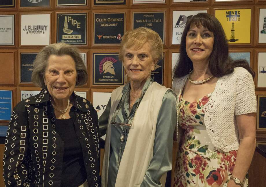 Lou Matson, Joan Henry and Lynn James, members of Permian Basin Geological and Geophysical Auxiliary.  5/11/17  Tim Fischer/Reporter-Telegram Photo: Tim Fischer/Midland Reporter-Telegram