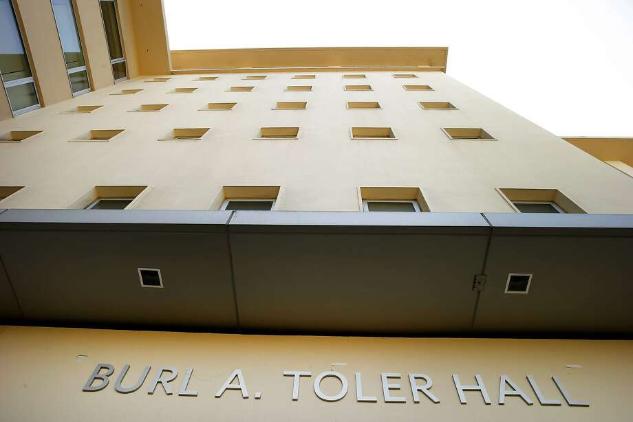 Burl A. Toler Hall is seen at the University of San Francisco on Tuesday, May 9, 2017, in San Francisco, Calif. USF renamed the building from Phelan Hall to Burl A. Toler Hall earlier today. Photo: Santiago Mejia, The Chronicle