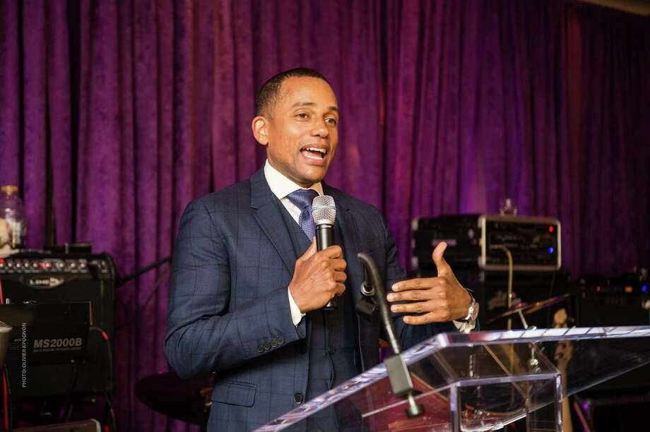 Actor and keynote speaker Hill Harper at Celebrating Hope 2017 at l'escale at the Delamar last week. Photo: Contributed / www.WindauPhotography.com