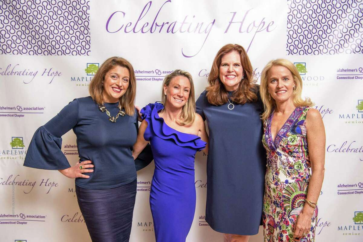 ) Eleonora Tornatore-Mikesh, President/CEO Alzheimer's Association CT Chapter with event co-chairmen Nancy Ozizmir, Cristin Marandino and Ginge Cabrera at Celebrating Hope 2017 at l'escale at the Delamar last week.