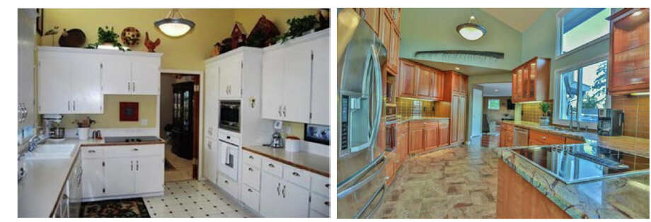 Federal prosecutors claim Gig Harbor resident Brent Meisner took a $200,000 kitchen remodel as a kickback from government subcontractors. His kitchen is pictured above before and after the remodel. Photo: Department Of Justice