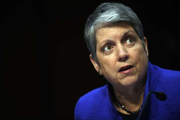 WASHINGTON, DC - JULY 29: Janet Napolitano, president of the University of California, speaks during a hearing of the Senate Health, Education, Labor, and Pensions Committee on July 29, 2015 in Washington, DC. The committee is examining the reauthorization of the Higher Education Act, focusing on combating campus sexual assault. (Photo by Astrid Riecken/Getty Images)