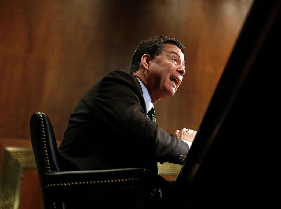 "FBI Director James Comey testifies on Capitol Hill in Washington, Wednesday, May 3, 2017, before the Senate Judiciary Committee hearing: ""Oversight of the Federal Bureau of Investigation."" (AP Photo/Carolyn Kaster) Photo: Carolyn Kaster, STF / Copyright 2017 The Associated Press. All rights reserved."