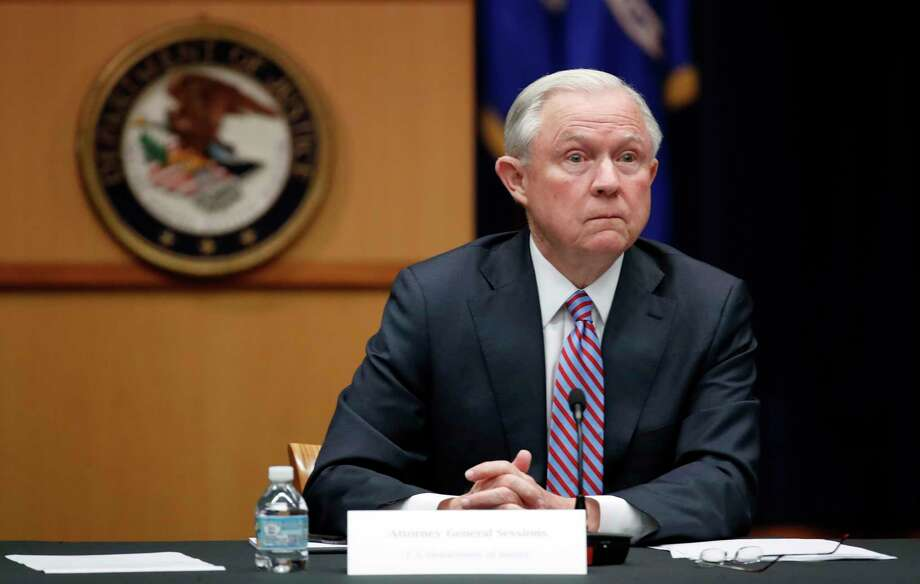 FILE - In this April 18, 2017 file photo, Attorney General Jeff Sessions is seen at the Justice Department in Washington. Sessions is directing federal prosecutors to pursue the most serious charges possible against the vast majority of suspects, a reversal of Obama-era policies that is sure to send more people to prison and for much longer terms. (AP Photo/Alex Brandon, File) Photo: Alex Brandon, STF / Copyright 2017 The Associated Press. All rights reserved.