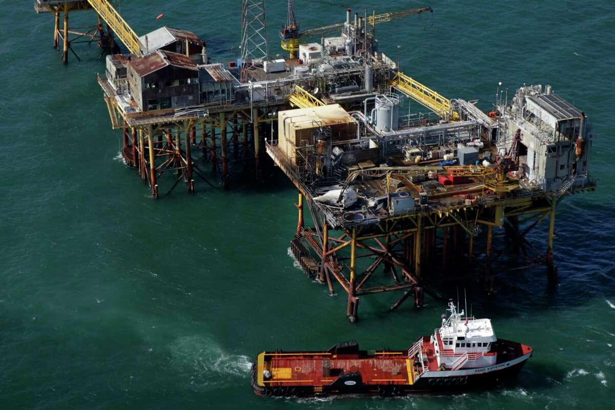 A fire on Nov. 16, 2012, on a Black Elk Energy oil platform off the coast of Louisiana killed three workers.