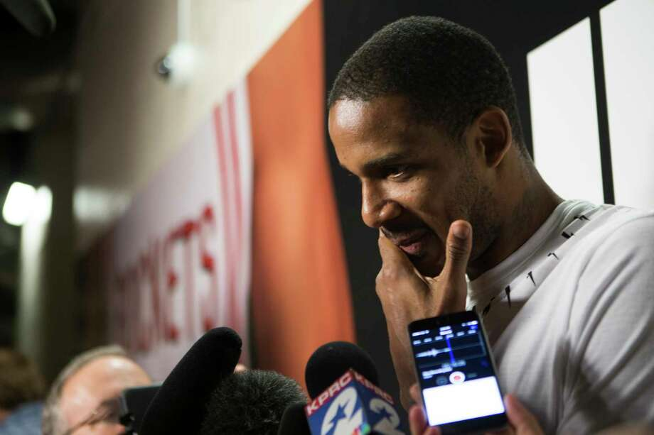 "In the wake of Thursday's Game 6 114-75 loss to the Spurs, Rockets forward Trevor Ariza believes ""there is more we can do, more we can give"" next season. Photo: Marie D. De Jesus, Staff / © 2017 Houston Chronicle"