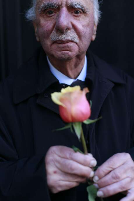 Al Nalbandian, 91, has been running a flower stand at stockton and geary for 66 years, in San Francisco for 66 years. Photo: Mike Kepka, The Chronicle