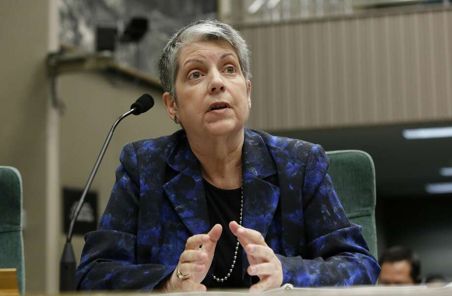 University of California President Janet Napolitano responds to a question while appearing before a Joint Legislative Audit Committee. Photo: Rich Pedroncelli, Associated Press