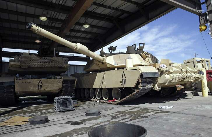 The size of the Abrams tank must be serviced in an outdoor facility due to its width preventing utilization of motor pool bays built for WWII vehicles as facilities at Fort Hood are sceduled for renovation on February 15, 2017.