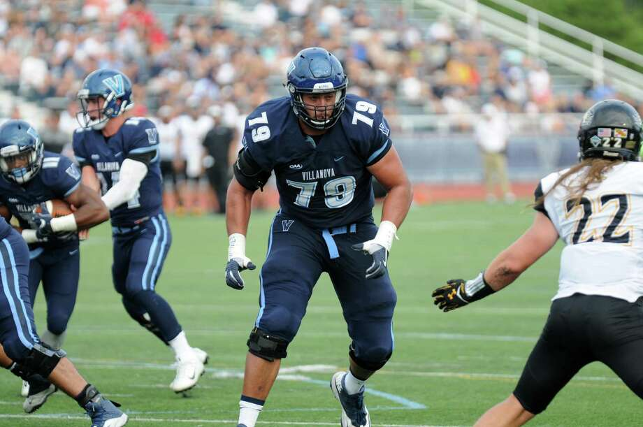 Villanova offensive lineman Brad Seaton was taken in the seventh round by the Tennessee Titans in April's NFL draft. Photo: Villanova University Athletics / Greenwich Time Contributed