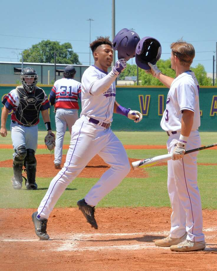 Ron Washington (13) of Ridge Point celebrates a lead-off home run during the first inning of game 3 in a 6Ain the first inning in game 3 of a 6A-III area round baseball playoff game between the Lamar Texans and the Ridge Point Panthers on Saturday May 13, 2017 at Jersey Village HS, Jersey Village, TX. Photo: Craig Moseley/Houston Chronicle