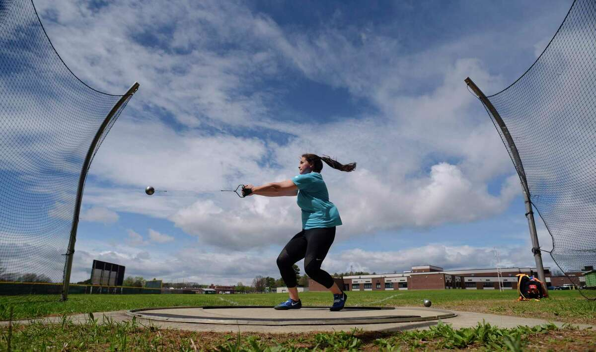 May 3 was a partly cloudy day. The average temperature was 49 degrees. 0.01 inches of rain fell. Shenendehowa High School senior Jill Shippee spins around before releasing the hammer during practice at the school on Tuesday, May 3, 2017, in Clifton Park, N.Y. (Paul Buckowski / Times Union)