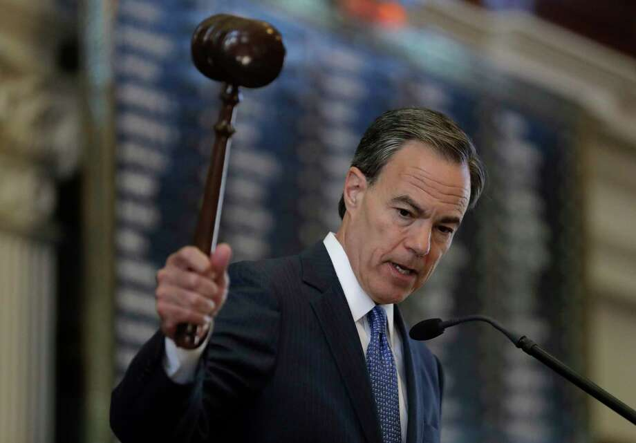 Speaker of the House Joe Straus opens the 85th Texas legislative session  in the  Capitol. Photo: Eric Gay, STF / Copyright 2017 The Associated Press. All rights reserved.